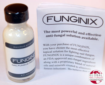 Funginix bottle and instructions