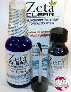 ZetaClear box, oral spray, and brush applicator.