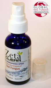 Zetaclear homeopathic spray bottle