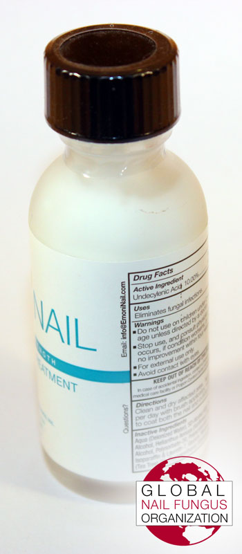 Side View of EmoniNail Bottle