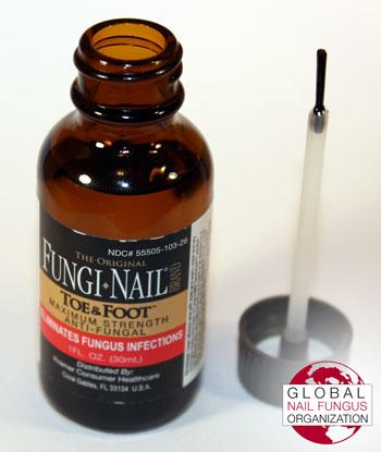 Fungi Nail Brand with applicator brush cap removed.