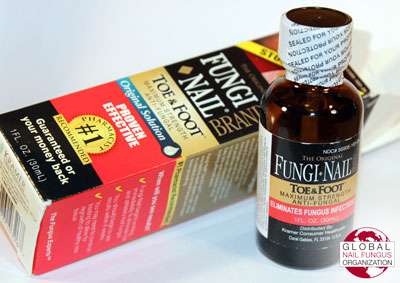 Fungi Nail Brand packaging and sealed bottle containing topical formula.