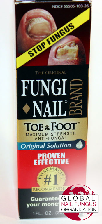 Front of Fungi Nail Brand packaging